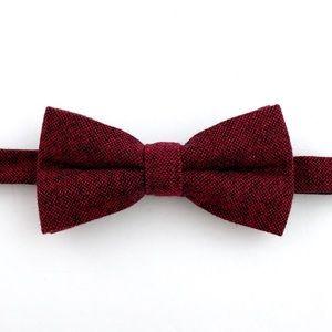 ⚜️New⚜️ Men's Crimson Wool Pre-Tied Bow Tie